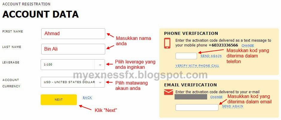 cara buka akaun 3 exness malaysia