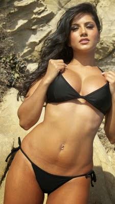 sunny in black bikini photo
