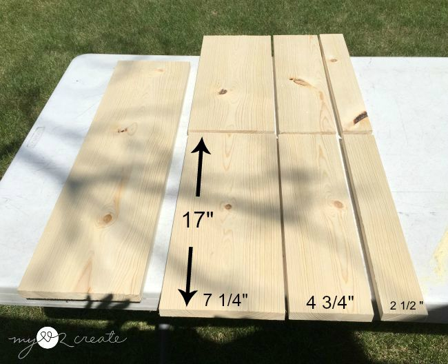 measurements of ripped 1x8 boards