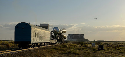SOYUZ TMA-13M SPACECRAFT ROLLS OUT TO LAUNCH PAD
