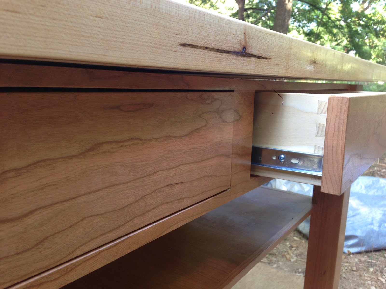 The Drawer Fronts Were Created From One Solid Piece Of Cherry To Maintain A Continuous Grain Pattern