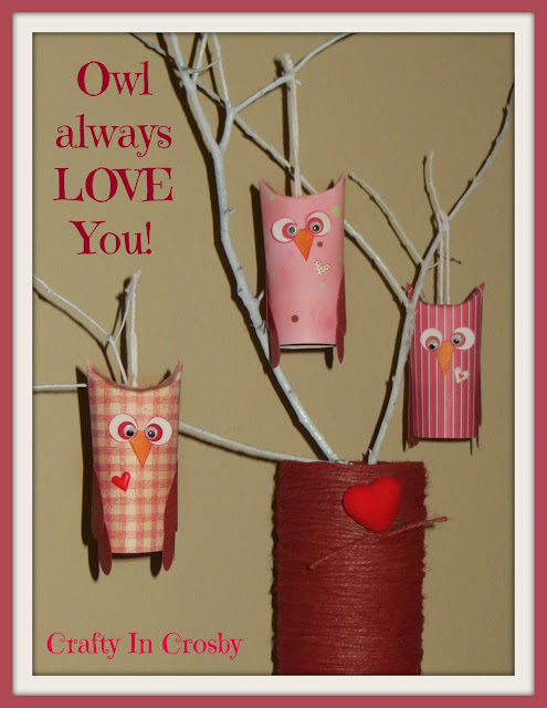 Valentine's Day, Paper Crafts, Owls, Toilet Paper Rolls