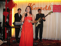 3 piece Jazz Band with singer providing light entertainment during the wedding dinner