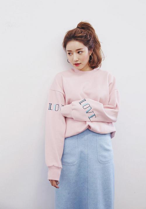 Love Printed Sleeve Sweatshirt