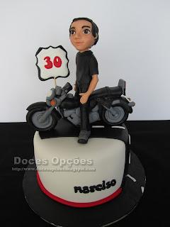 moto biker cake
