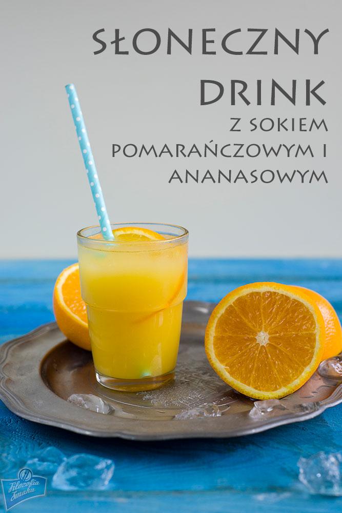 drink z sokiem ananasowym