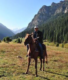 Almaz the Owner of Bulak Say Horseback & Trekking
