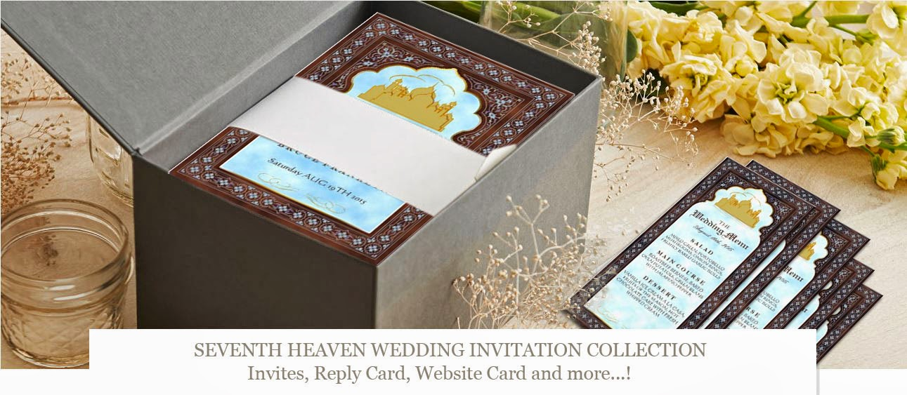 """Seventh Heaven"" ~ Wedding Invitation Collection"
