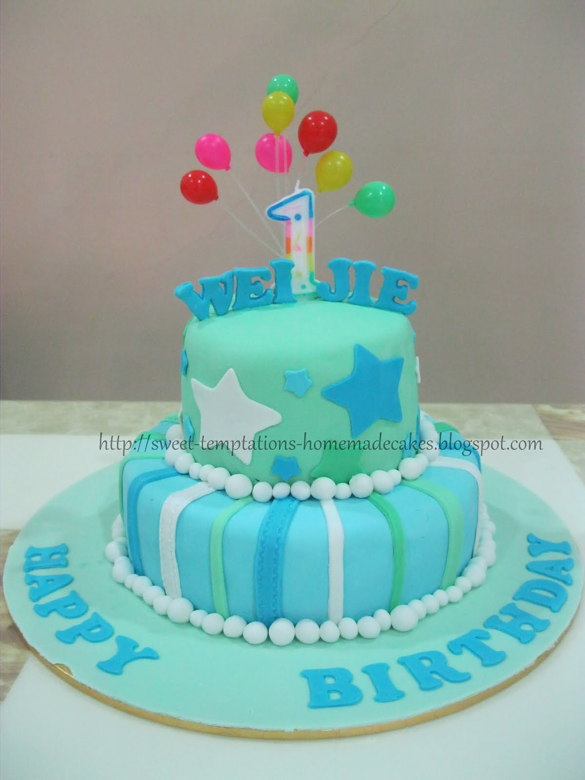 Cake For 1 Year Old Boy Pinterest : Sweet Temptations Homemade Cakes & Pastry: 1 Year Old Boy ...