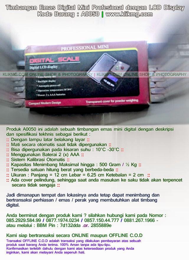 Timbangan Emas Digital Mini Profesional dengan LCD Display - Kode Barang : A0050