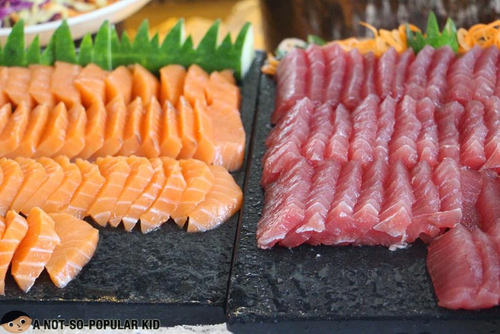 Wonderfully Fresh Salmon and Tuna Sashimi - F1 Hotel Manila