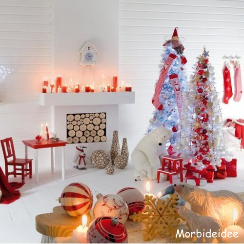 Modern christmas interior decorating idea Christmas decorations interior design
