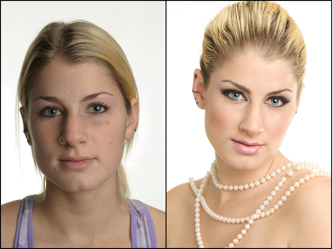 Bridal Makeup Pictures Before And After : Le Mariee : Bridal Makeup.. A Before And After