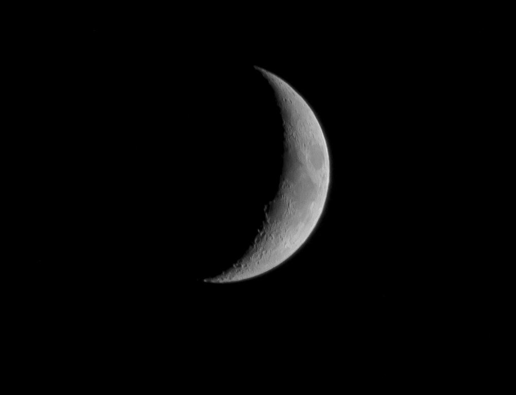 Astrophotos la lune montante dans le ciel de vend e - Lune montante et descendante ...