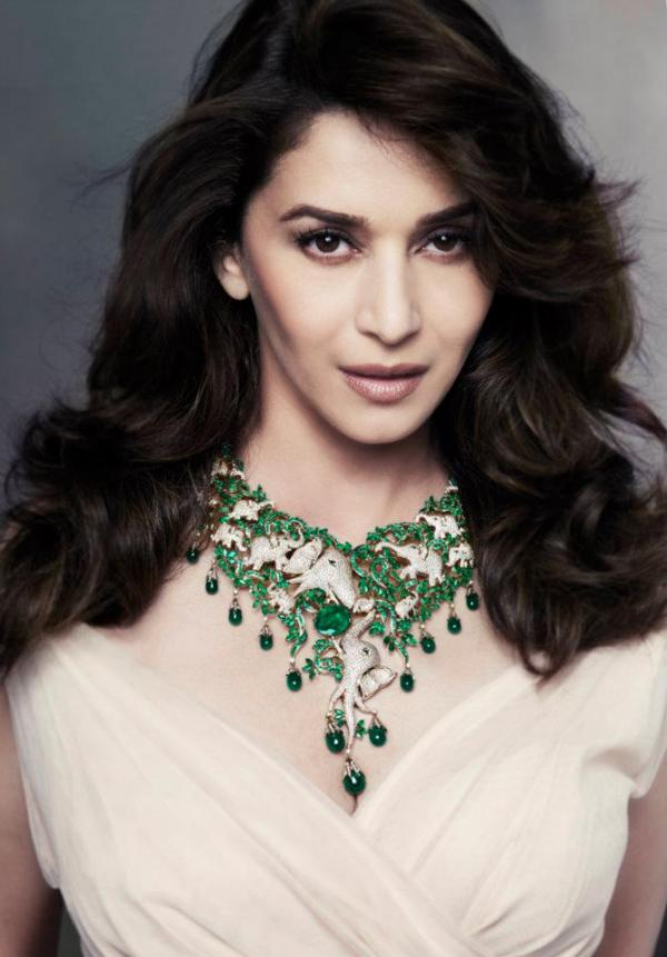 Madhuri Dixit Beautiful Emeralds Jewelry Collection Ambellamy