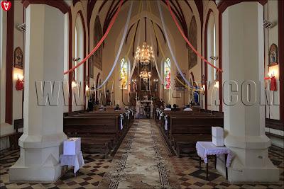 Внутри костела святого Алексея в Ивенце