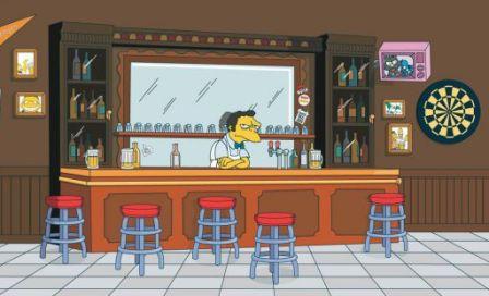 Gatos y gatunos un gato en la barra del bar - Barra de bar en casa ...