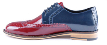 Chester brogue red blue patent Antoine + Stanley AW13