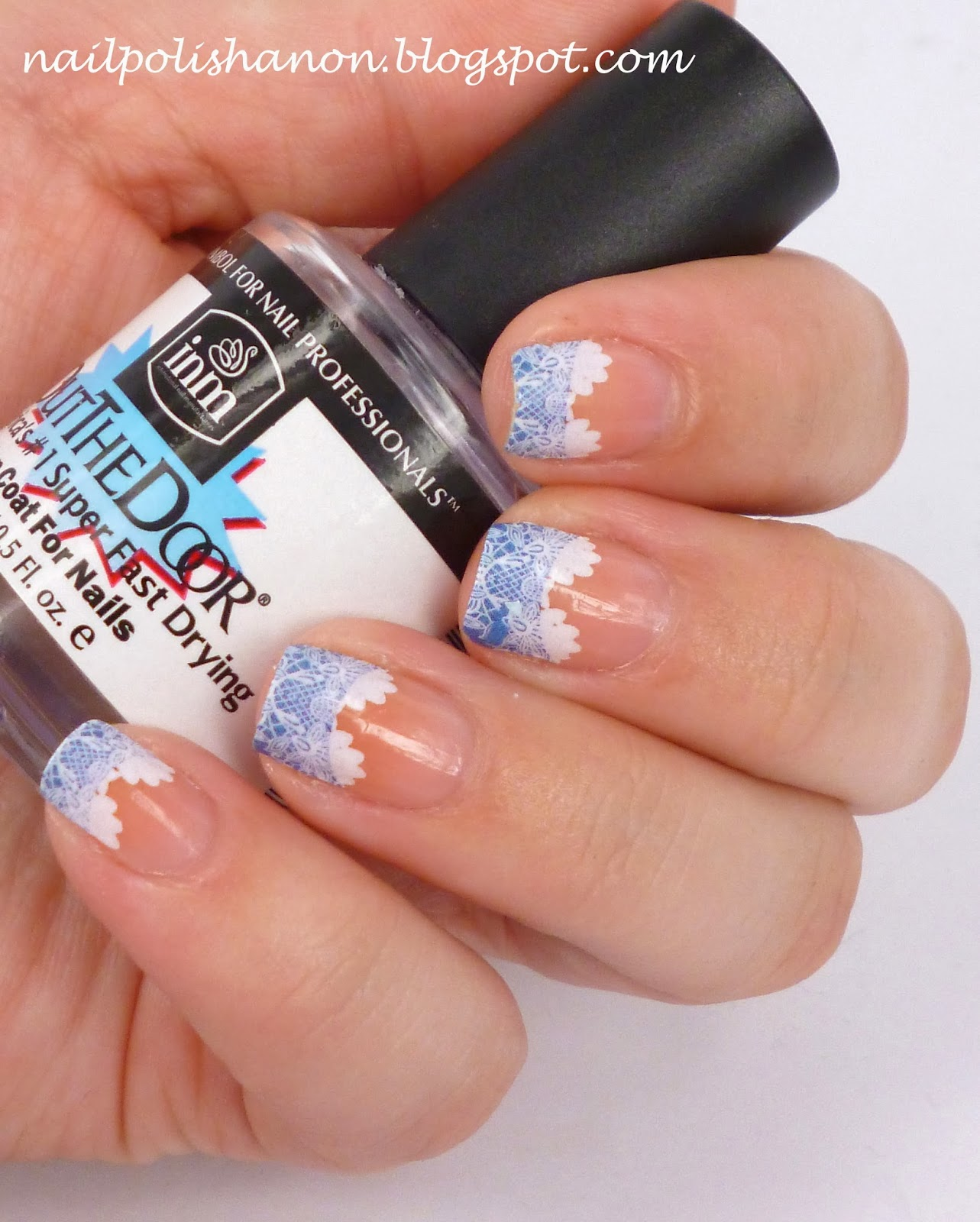 Nail Polish Anon: French Tip Lace Water Decals Review