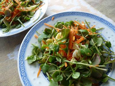 Miners' Lettuce Salad