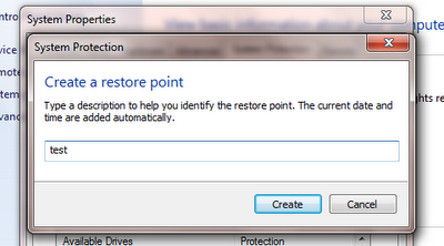 Create Windows Restore Point