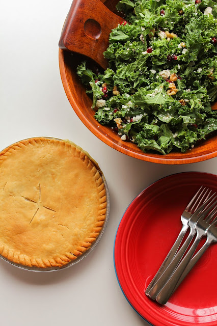 Kale, Walnut & Pomegranate Salad | The Chef Next Door #PotPiePlease