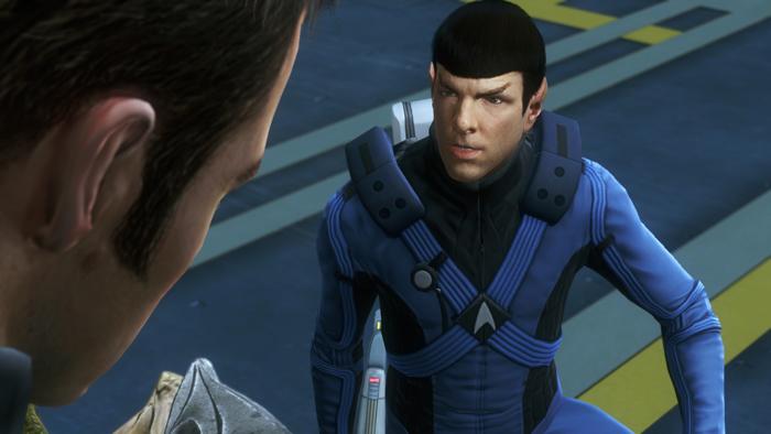 Screenshots con los personajes de Star Trek