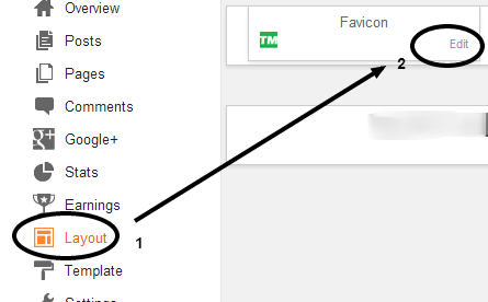 Uploading to blog by selecting edit