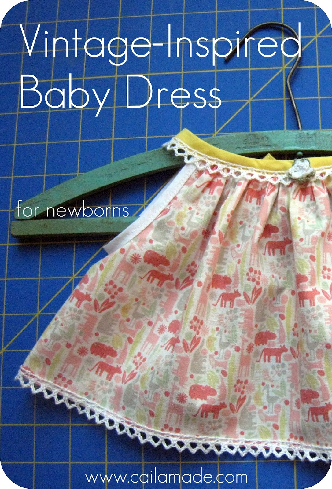 vintage inspired baby dress tutorial and free pattern