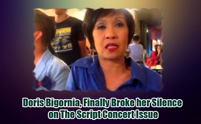 Doris Bigornia, Finally Broke her Silence on The Script Concert Issue