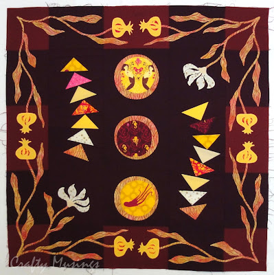 Anne's completed applique border