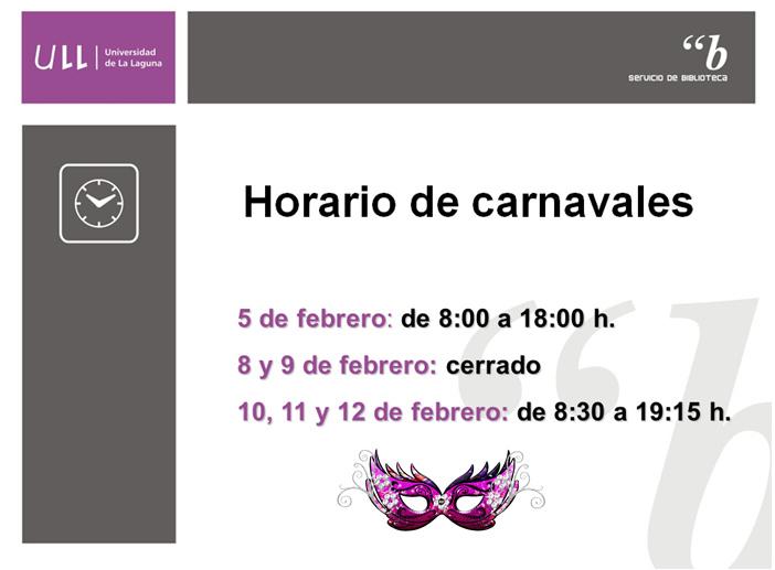 Horario de carnaval 2016