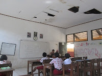 kondisi ruang kelas SDN Jurang Mangun, Pondok Aren Tangsel