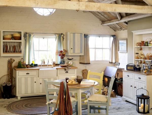 estilo rustico cocinas en casas de campo