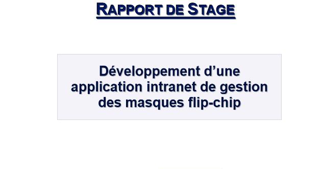 d u00e9veloppement d u0026 39 une application de gestion en production