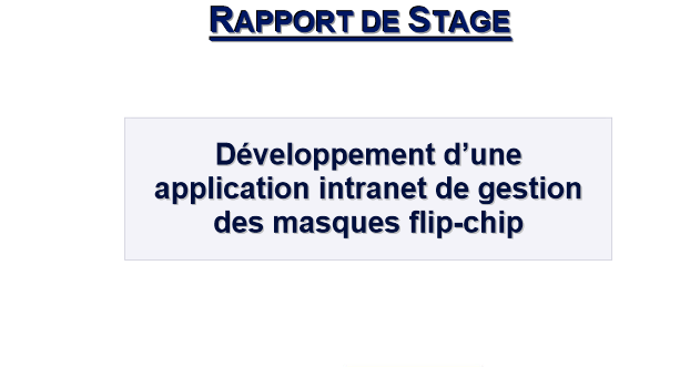 d u00e9veloppement d u0026 39 une application de gestion en production
