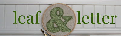 leaf and letter handmade