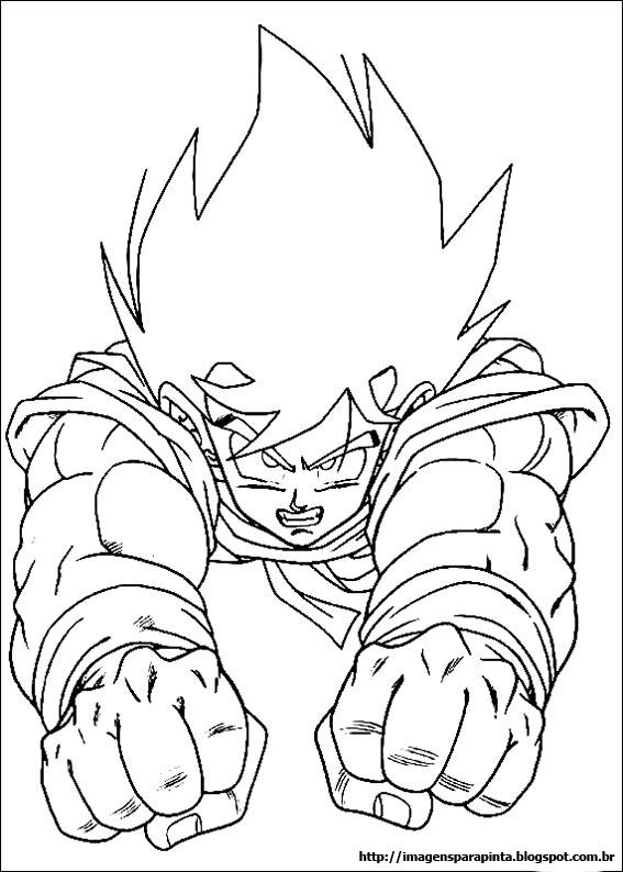 Desenhos Para Colorir dragonball z dbz goku
