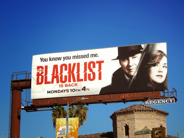 The Blacklist midseason 1 billboard