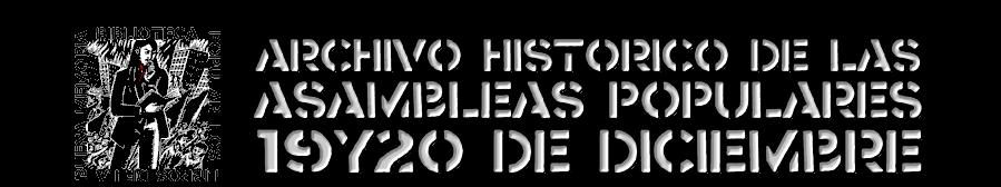 """ARCHIVO POPULAR """"19y20 de Diciembre"""""""