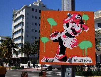 Super Mario Bros Street Art Seen On www.coolpicturegallery.us