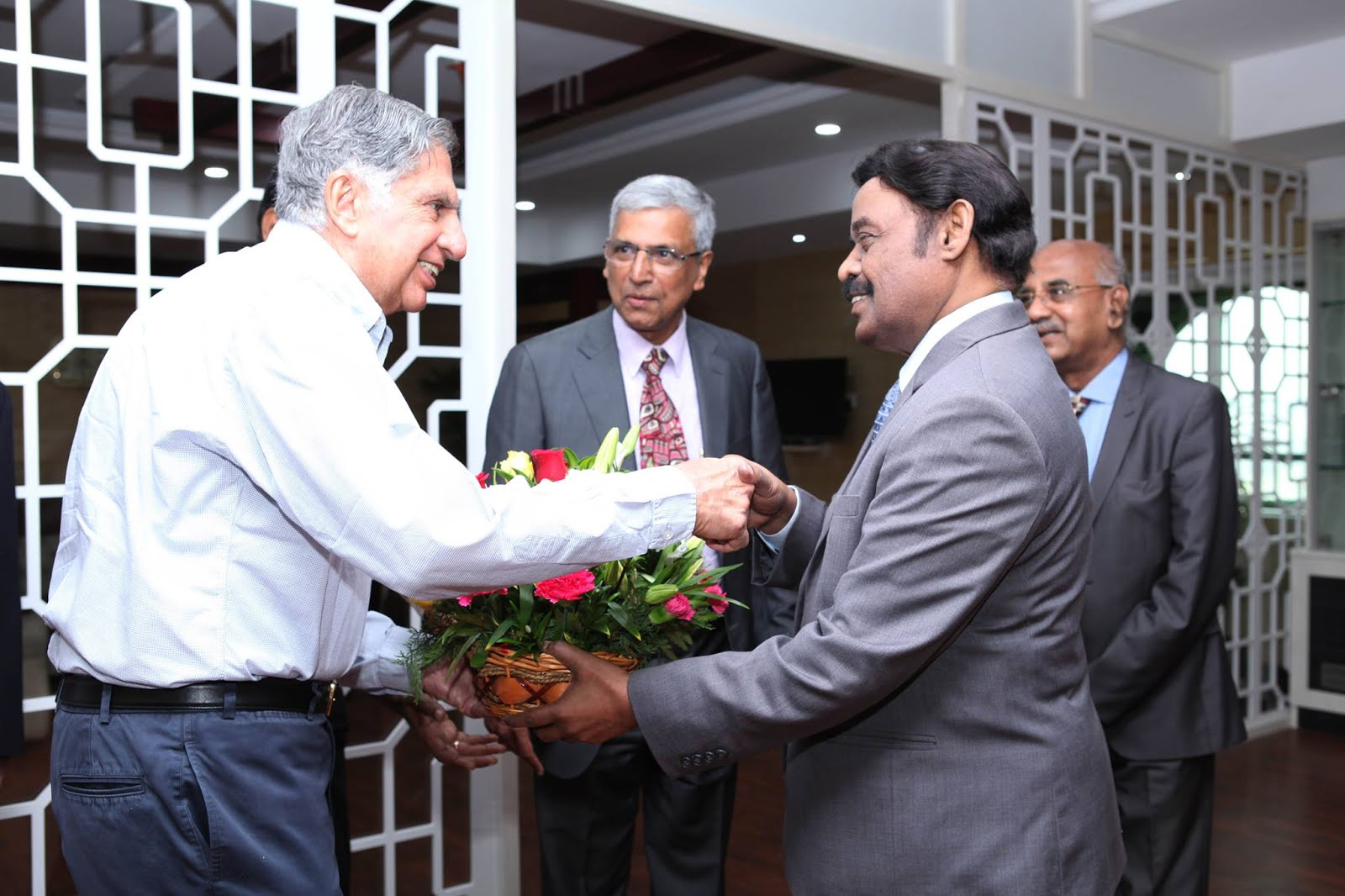 Ratan Tata Interacting with the students of SRM University at its Kattankulathur Campus