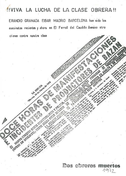 1972.¡¡¡ VIVA LA LUCHA DE LA CLASE OBRERA!!!