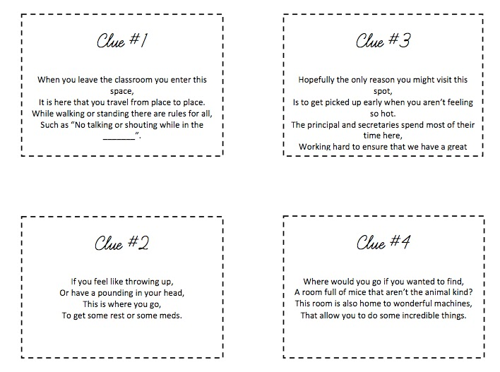 treasure hunt clues for college with answers pdf