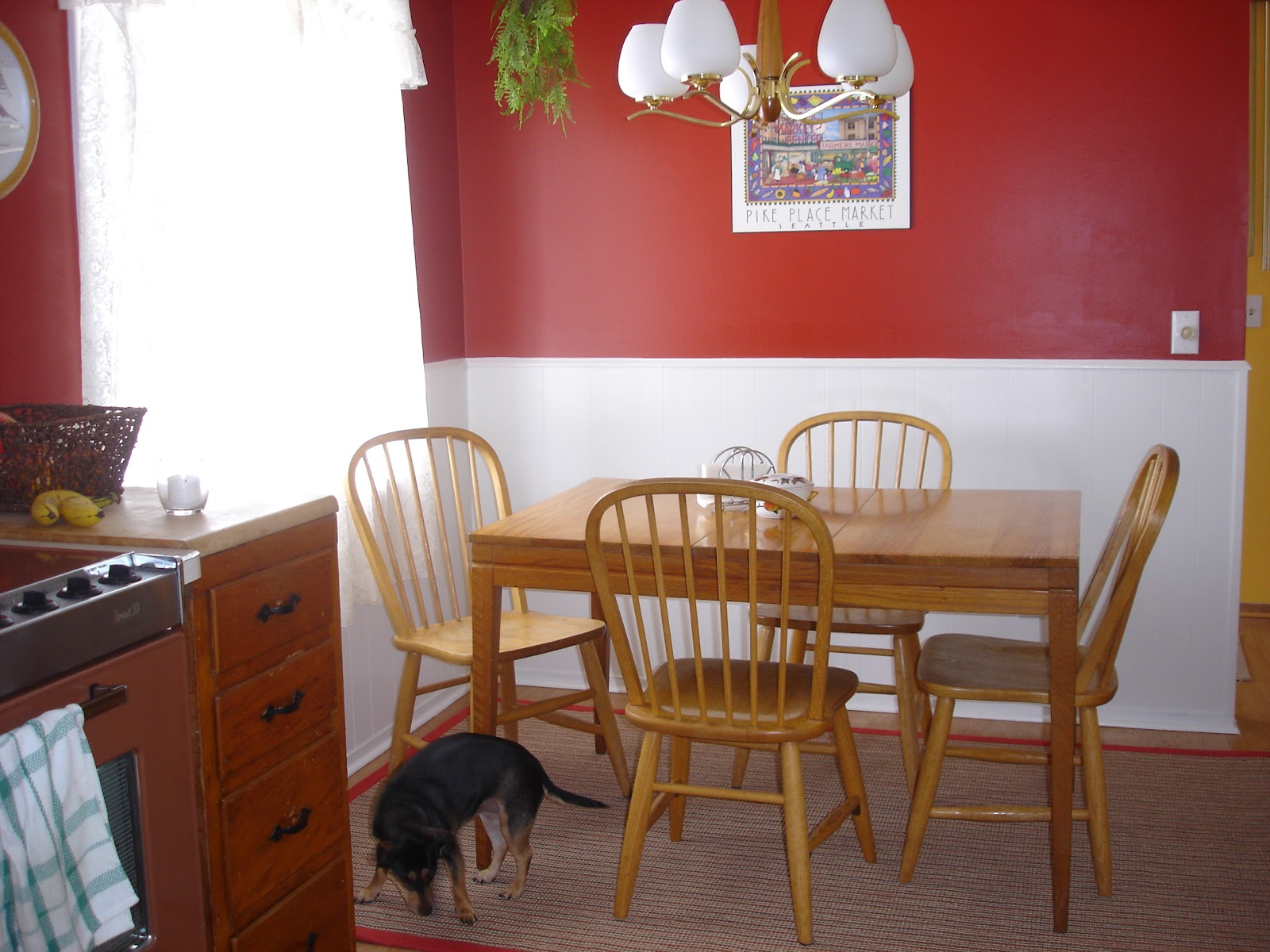 we went with moroccan red behr - Moroccan Red Paint