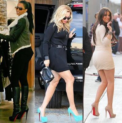 sapatos christian louboutin celebridades