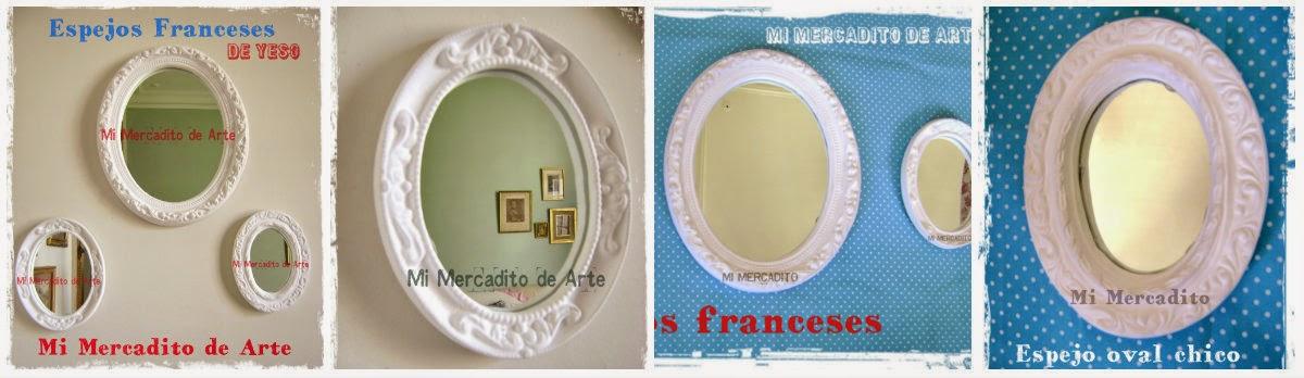 ESPEJOS FRANCESES - Grandes desde 46cm x 38cm -  39cm x 31,5cm y Chicos 15 x 20cm