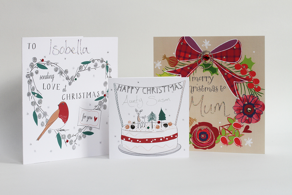 Belly button designs getting personal with top end lux for Painted christmas cards