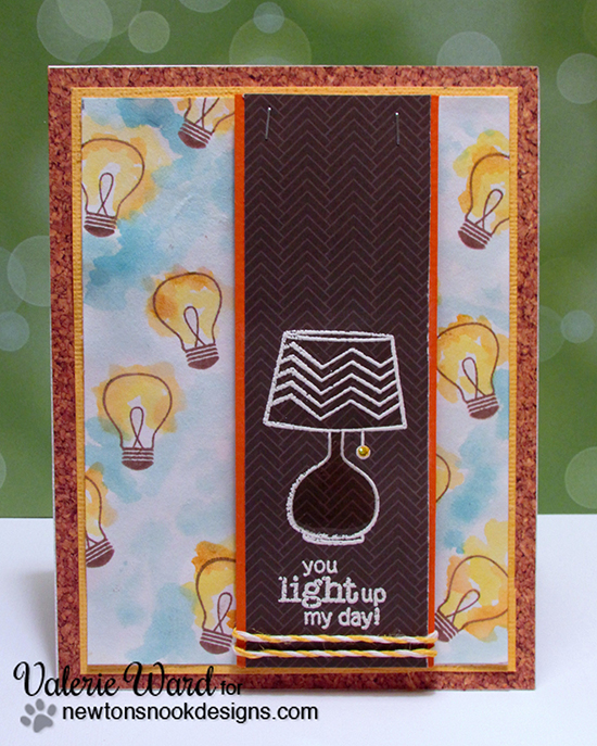 Lightbulb card by Valerie Ward | Around the House Stamp Set | Newton's Nook Designs
