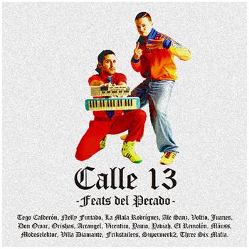 cover  Feats del Pecado, disco  Feats del Pecado calle 13, portada  Feats del Pecado calle 13